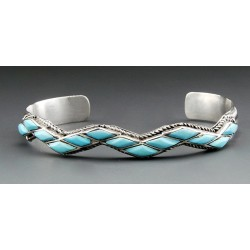 Native American Cuff Bracelet with Turquoise