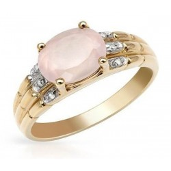 10K Yellow Gold Ring with Gemstones
