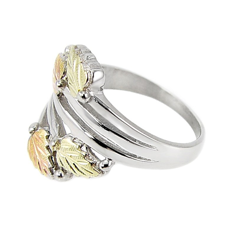 Black Hills Gold On Sterling Silver Ring Jewelry Farm