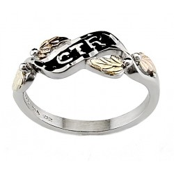 Black Hills 12K Gold on Sterling Silver CTR Ring