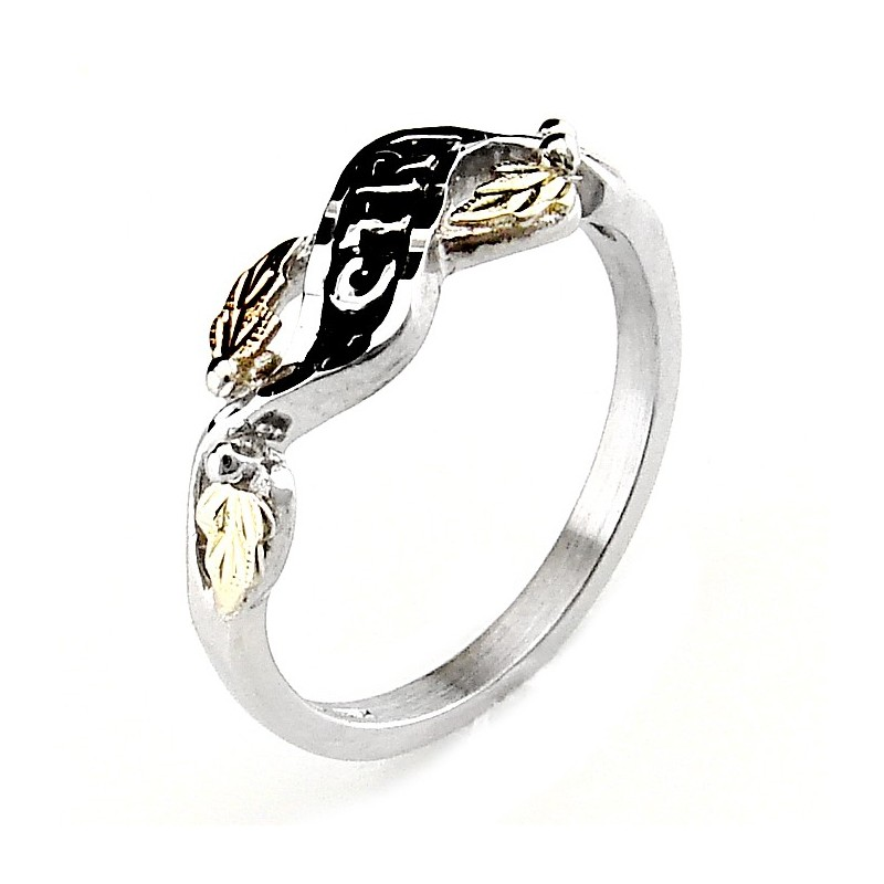 Black Hills 12k Gold On Sterling Silver Ctr Ring Jewelry
