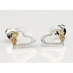 Small Black Hills 12K Gold on Silver Silver Heart Earrings