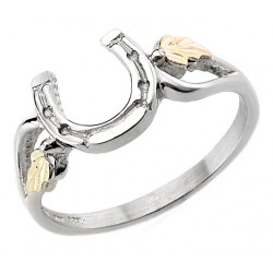 Black Hills 12K Gold on Sterling Silver Horseshoe Ring