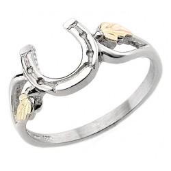 Black Hills 12K Gold on Sterling Silver Horseshoe Ring