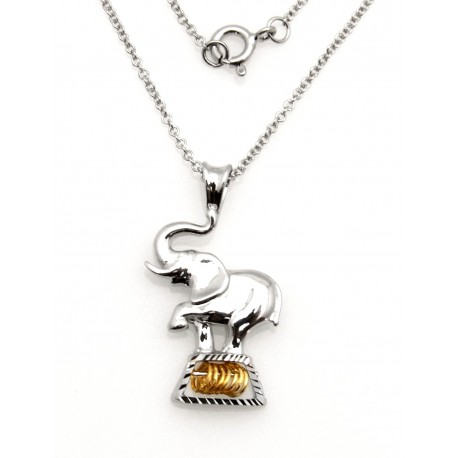 Black Hills Wish Rings Sterling Silver Elephant Pendant