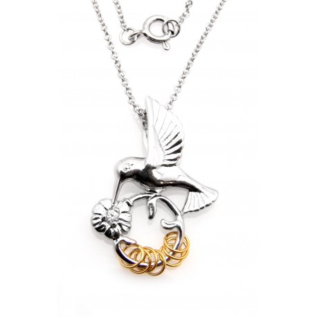 australia pendant humming bird in silver hummingbird sterling solid pendants