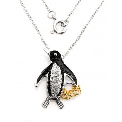Black Hills Wish Rings Sterling Silver Penguin Pendant