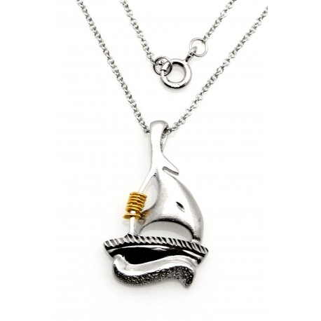 Black Hills Wish Rings Sterling Silver Sailboat Pendant
