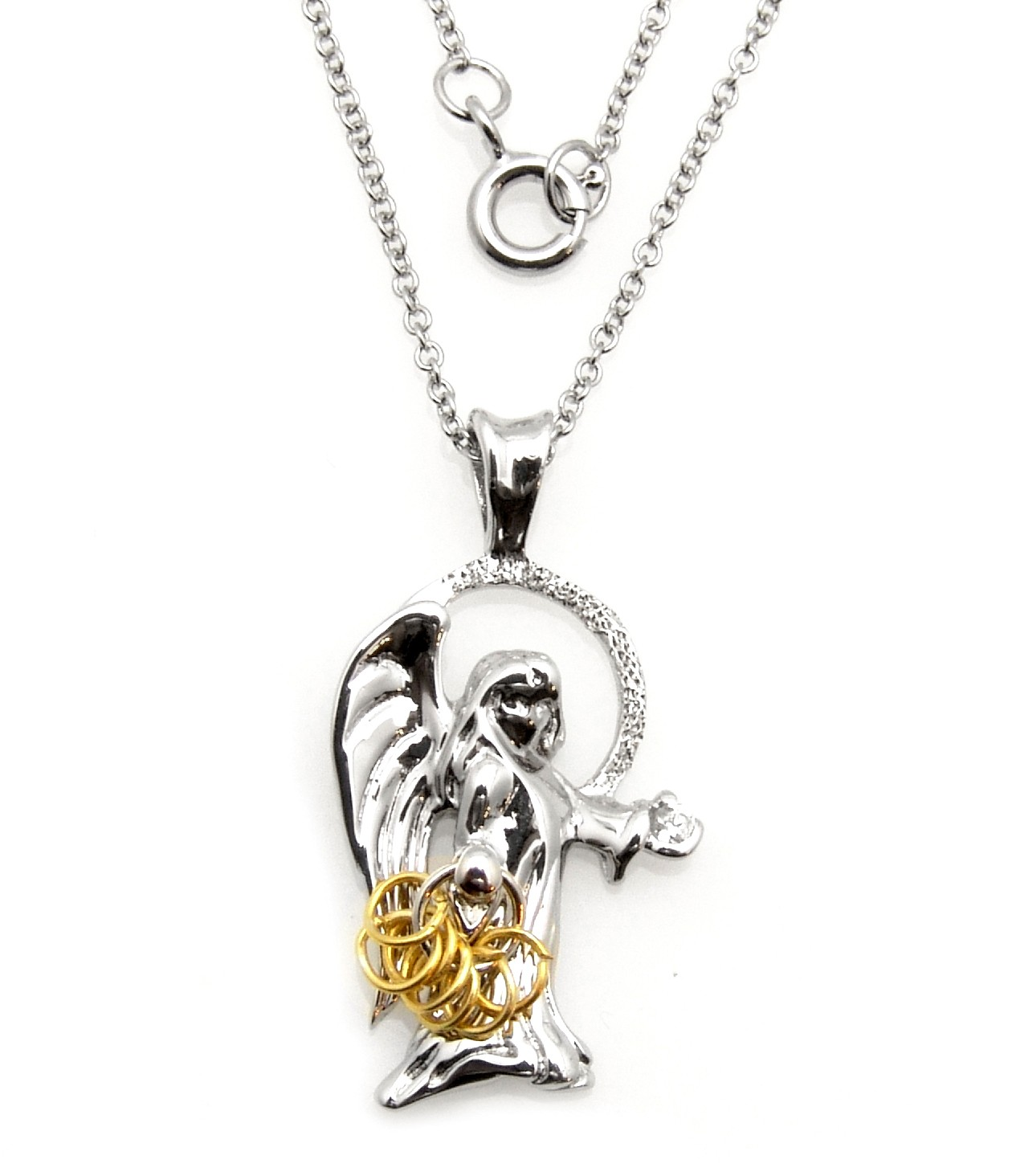 Black hills wish rings sterling silver angel pendant jewelry aloadofball Images