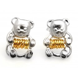 Black Hills Wish Rings Sterling Silver Bear Earrings