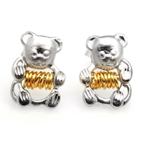 Black Hills Wish Rings Sterling Silver Bear Earrings
