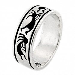 Southwestern Sterling Silver Ring with Kokopelli