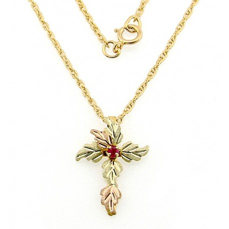 Black hills 10k gold cross pendant with ruby jewelry black hills 10k gold cross pendant with ruby aloadofball Image collections