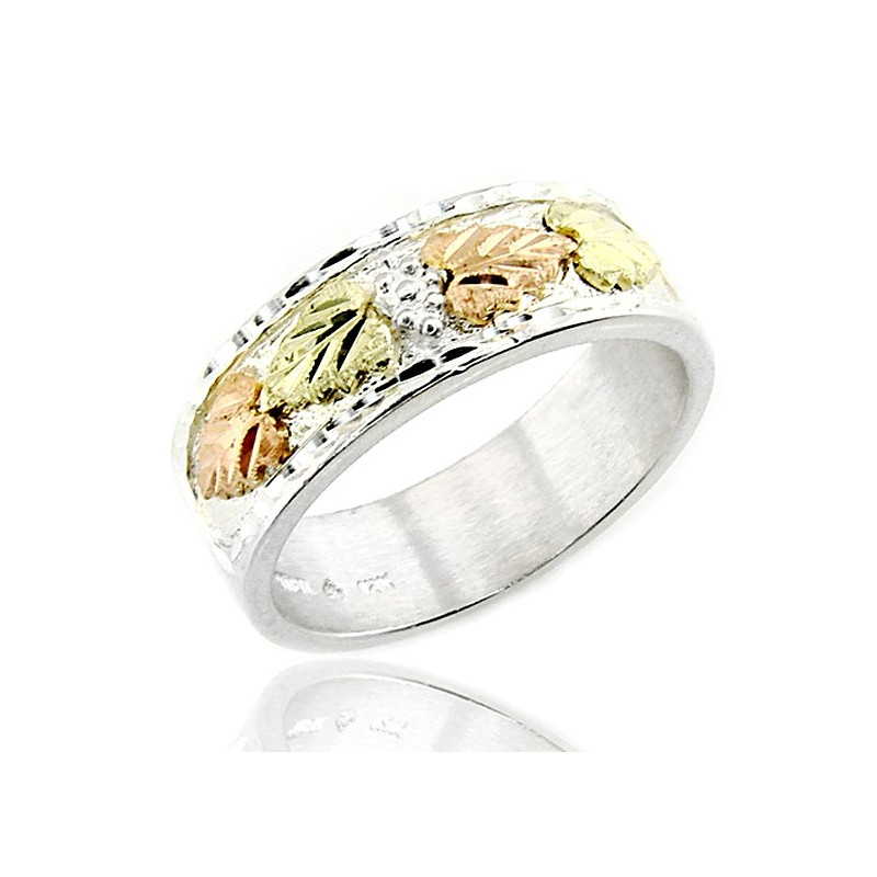 Black Hills Sterling And 12k Gold Wedding Ring Jewelry Farm