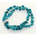Southwestern Turquoise and Sterling Silver Stretch Bracelet
