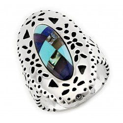 Southwestern Sterling Silver Inlaid Ring – CP Signature
