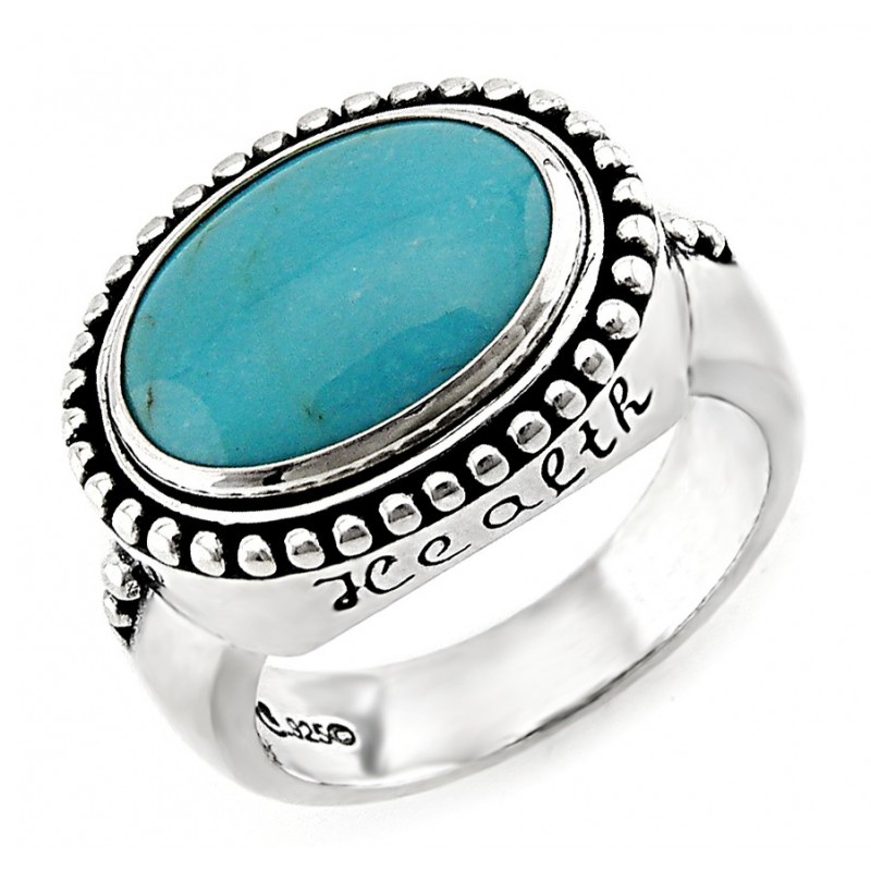 Southwestern sterling silver ring with turquoise jewelry for Southwestern silver turquoise jewelry
