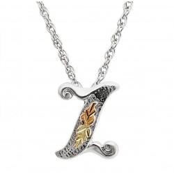 Black Hills 12K Gold on Sterling Silver Z Letter Pendant - Initial Pendant