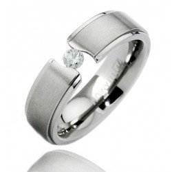 Titanium Band Ring with CZ
