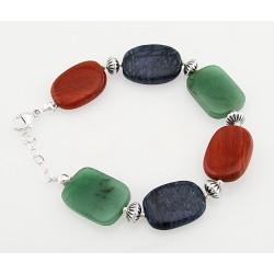 Southwestern Sterling Silver Gemstone Bracelet
