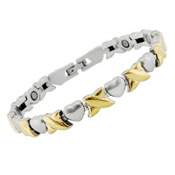GRH-2224 Magnetic Stainless Steel Bracelet with Hearts