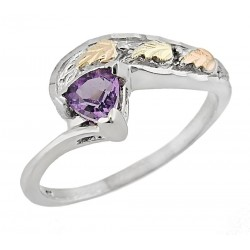 Black Hills 12K Gold on Sterling Silver Ring with Amethyst