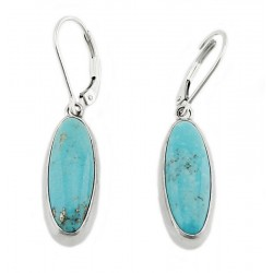 Two Sided Sterling Silver Earrings With Turquoise