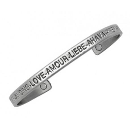 Sergio Lub Magnetic Silver Cuff Bracelet – Love Silver