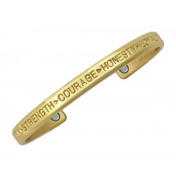 Sergio Lub Magnetic Brass Cuff Bracelet – Courage Brass
