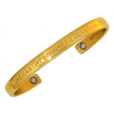 Sergio Lub Magnetic Brass Cuff Bracelet – Peace Brass