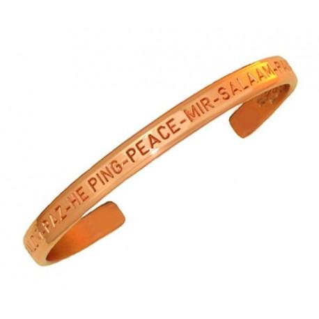 Sergio Lub Copper Cuff Bracelet – Peace Copper