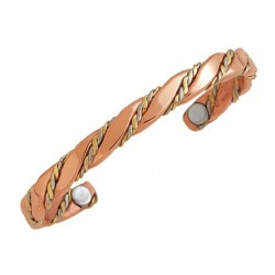 Sergio Lub Magnetic Copper Cuff Bracelet - Magnetic Caduceus