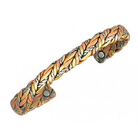 Sergio Lub Magnetic Copper Cuff Bracelet - Magnetic American Quilt
