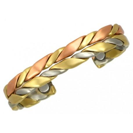 Sergio Lub Magnetic Copper Cuff Bracelet - Horseman Magnetic Brushed