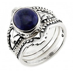 Southwestern Sterling Silver Ring Set with Lapis