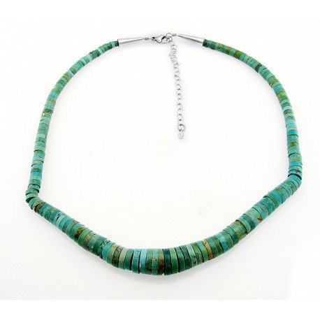 Southwestern Turquoise Necklace with Sterling Silver
