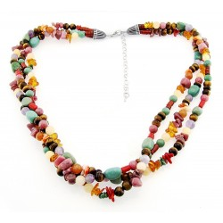 Southwestern Gemstone Necklace with Sterling Silver