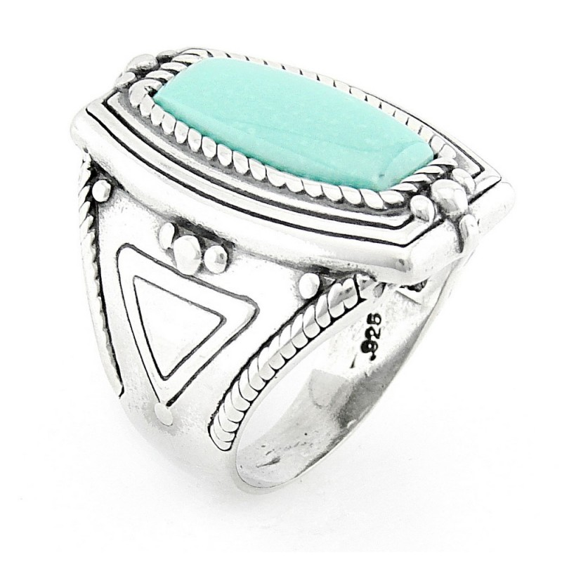 Southwestern sterling silver turquoise ring for Southwestern silver turquoise jewelry