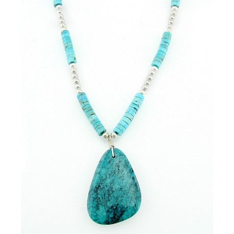 Southwestern Sterling Silver Turquoise Necklace