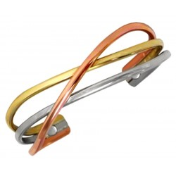 Sergio Lub Magnetic Cuff Bracelet – Copper Swirl Magnetic