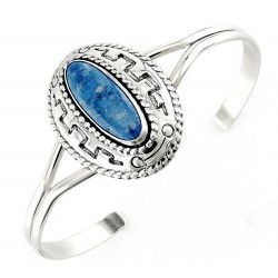 Southwestern Sterling Silver Cuff Bracelet with Lapis