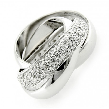 Sterling Silver 3-piece Interlocked Band Ring Set