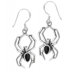 Sterling Silver Spider Earrings