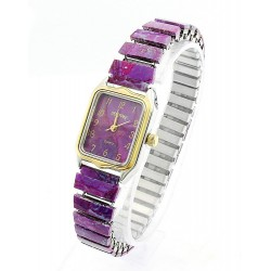 Gemtime Purple Turquoise Ladies Watch Bracelet