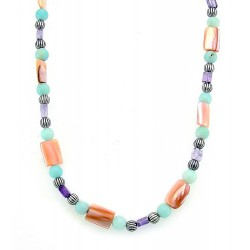 Carolyn Pollack Gemstone Sterling Silver Necklace 35 Inch