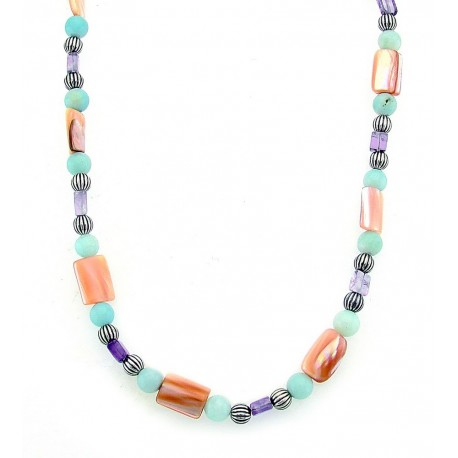 Carolyn Pollack Gemstone Sterling Silver Necklace 35 Inch
