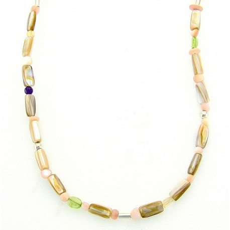 Sterling Silver and Gemstones Necklace – CP Signature