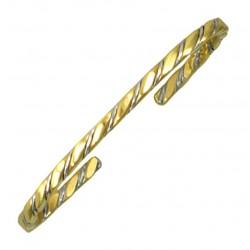 Sergio Lub Cuff Bracelet – Hot Brass