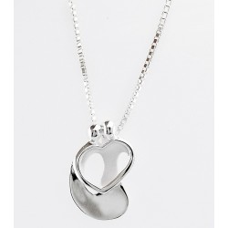 Sterling Silver Loving Family Couple Pendant with Neckace By Relios