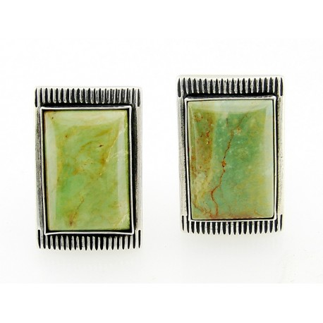 Victoria Adams Sterling Silver Turquoise Clip Earrings By Relios